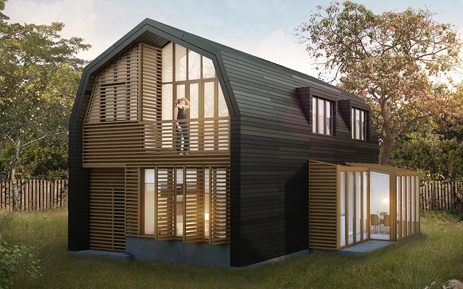 Keuken Verbouwen Amsterdam : Duurzame houten villa Amsterdam-Noord Puurbouwen